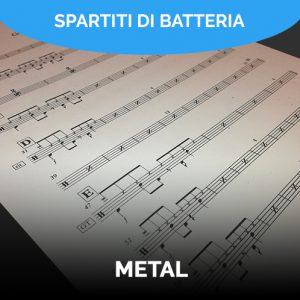 Spartiti batteria metal